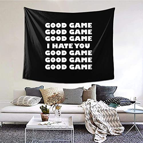 Good Game, I Hate You - Manta decorativa de pared para dormitorio, sala de estar, decoración de dormitorio de 60 x 151 cm, para interiores
