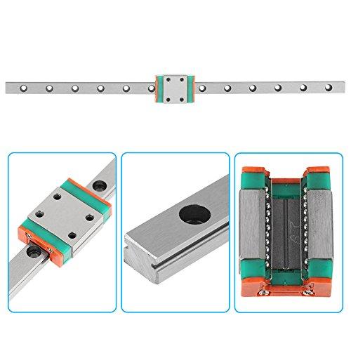 Guide Rail Sliding Rail LWL7B sliding shaft kit Smooth Moving Bearing Block for linear motion system for Industrial equipment for 3D printer(200mm)