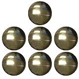 ベルアート メタルボタン (ABS) 18mm 7個入 Col.BN ブラック ニッケル AZMT-0087