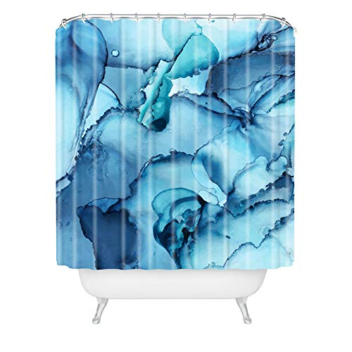 """Society6 Elizabeth Karlson The Blue Abyss Abstract Shower Curtain, 72""""x69"""""""