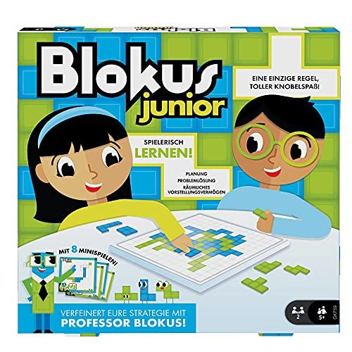 Mattel Games GKF59 - Blokus Junior Kinderspiel und Lernspiel, geeignet für 2 Spieler, Kinderspiele ab 5 Jahren
