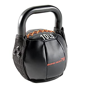 Bionic Body Soft Kettlebell with Handle – 10, 15, 20, 25, 30, 35, 40 lb. for Weightlifting, Conditioning, Strength and Core Training