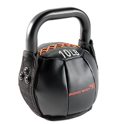 Bionic Body Soft Kettlebell with Handle - 10, 15, 20, 25, 30, 35, 40 Lb. for Weightlifting, Conditioning, Strength and Core Training (BBKB-10)