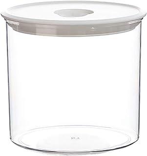 AOIWE Bocaux de rangement scellés et empilables, 600/800/1700 ml avec couvercle, pour confiture, pâtes, spaghetti, thé, gr...