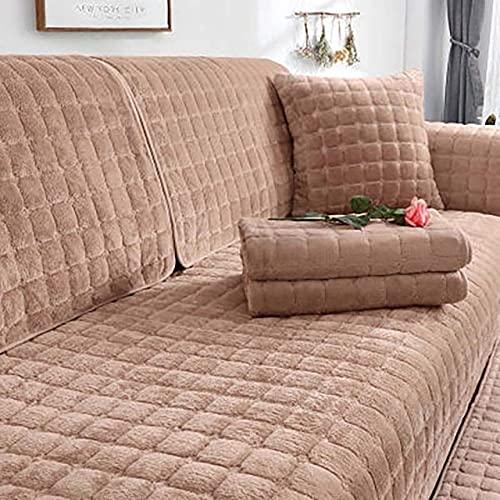 YHWW Fundas de sofá,Funda para sofá de Sala de Estar de Invierno Funda de Felpa para sofá Cojín para sofá nórdico Four Seasons Toalla para sofá Funda Protectora para sofá en Forma de L, W90x
