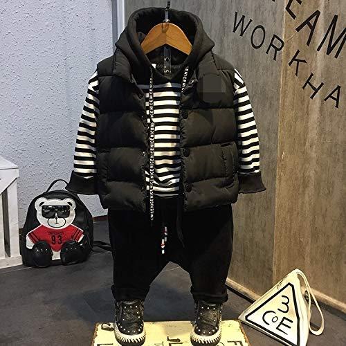 JFMDF ボーイズジャケット、スリーピースのスーツの秋と冬のコットン子供服、高さ:7(90センチメートル)