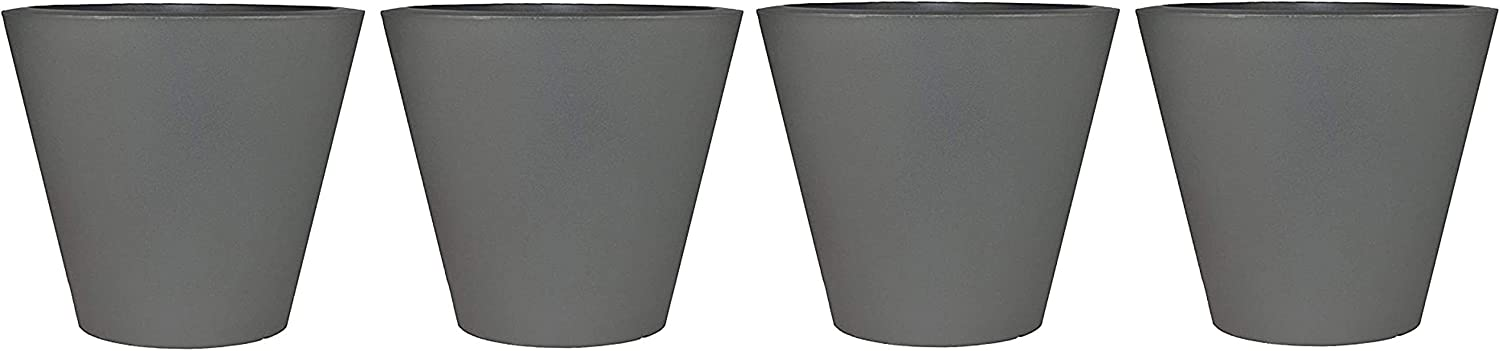 Tusco Products CR16SL Cosmopolitan Round Some San Diego Mall reservation Pot Med Slate Planter