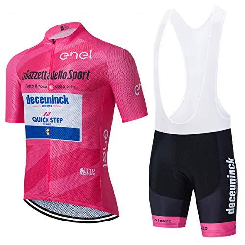 EIDKWTR Maillot Ciclismo Verano Corto para Hombre, Ciclismo para Verano con 5D...
