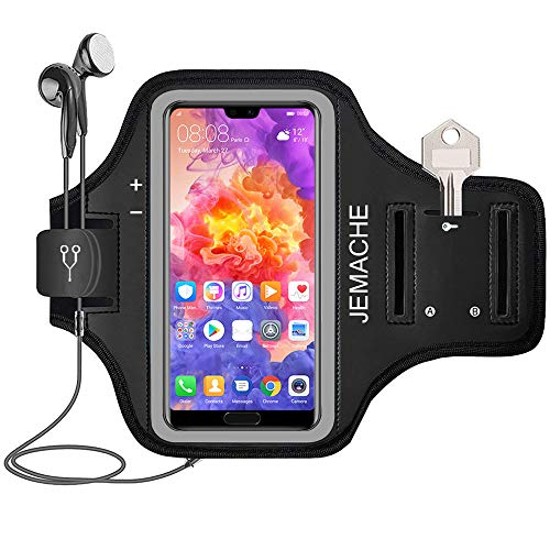 Huawei P30 Pro, P20 Pro Armband, JEMACHE Gym Sport Laufen Workouts/Fitness Handytasche Armbänder für Huawei P30 Pro, P20 Pro, Mate 30 Pro, P Smart 2019