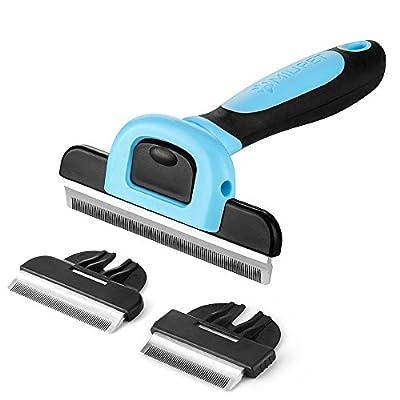 MIU PET Pet Deshedding Tool and Grooming Brush ...