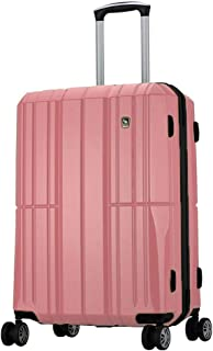 WHPSTZ Suitcase Suitcase Airplane Wheel Travel Large Capacity Luggage Lock Pure PC Computer Trolley Case Waterproof Seal Trolley case (Color : Pink, Size : 38x23x58cm)