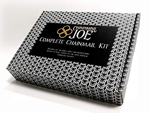 Complete Chainmail Kit - 20 Weave Tutorial Book, 23,000+ Rings(Over 4 Pounds), Clasps, and Tools