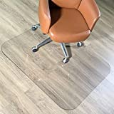 AMZOSS Office Chair Mat for Carpets, Crystal Clear 0.08' Thick 48' x 36' Heavy Duty Hard Chair Mat, Glass Chair Mat Protect Your Home or Office Floor   Perfect for Hardwood or Carpet