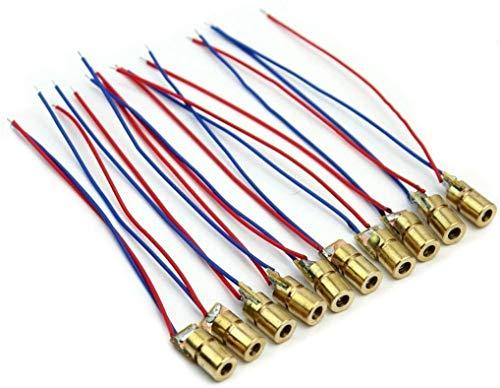Movilideas - 10 Unidades de Diodo Laser de 5V 650nm 5mW...