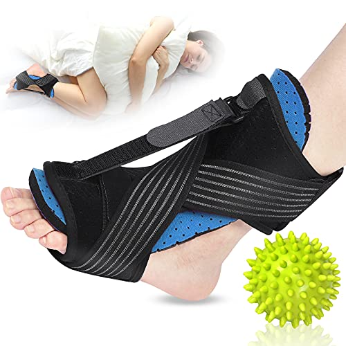 Plantar Fasciitis Night Splint, 2021 Upgraded Adjustable Plantar Fasciitis Relief Night Splints for Plantar Fasciitis, Foot Drop Ankle Pain, Heel Pain, Achilles Tendonitis Support