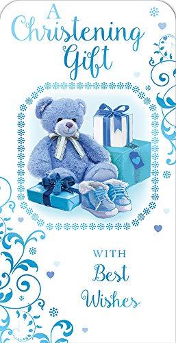 Xpress Yourself Ein Geschenk zur Taufe für einen Jungen, luxuriöses Geschenk, Geldgeschenk-Karte.