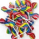 Twisty Ripple Pops Neon Colord Swirl kosher Lollipop - 24 Count - in Presentable Box Lollipops Treat -sucker lolli