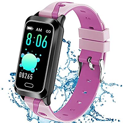 Inspiratek Kids Fitness Tracker for Girls and Boys Age 5-16 (5 Colors), Kids Activity Tracker, Fitness Watch for Kids - Fitness Tracker for Kids - Activity Tracker for Kids , Kids Step Tracker (Pink)