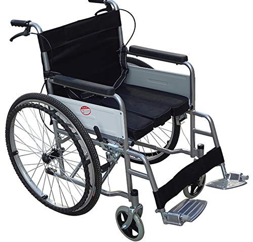 Luxury Lightweight Folding Wheelchair Self Propelled with Commode Pan Padded Chair
