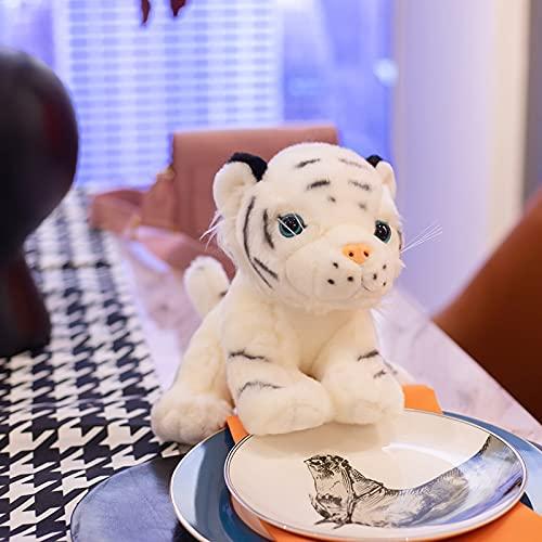 YMQKX 20-25-30CM Lindo Animal Salvaje Tigre Juguetes de Peluche Kawaii Sentado Tigre muñeco de Peluche Juguetes de Peluche decoración del hogar para niños Regalos 25cm