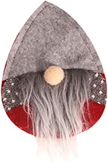 re2chiOngs Christmas Fork Bag ableware Storage Bag Santa Gnome Pattern Knife Fork Spoon TCover Pouch Grey