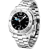 BINLUN Automatic Men's Watch Waterproof Date Display with Day Night Sub-dial