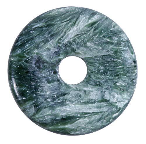 Lebensquelle Plus Serafinita Seraphinita Piedra preciosa Donut Ø 40 mm Colgante