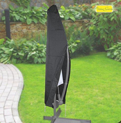 Fachhandel Plus Komfort Schutzhülle für runde Ampelschirme mit einem Ø von 200-400cm, anthrazit, 405595