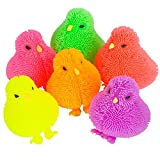 ArtCreativity 3 Inch Chicken Puffers, Pack of 12, Chick Surprise Toys for Filling Easter Eggs, Easter Party Favors, Egg Hunt Supplies, Stress Relief Toys for Kids, Assorted Neon Colors