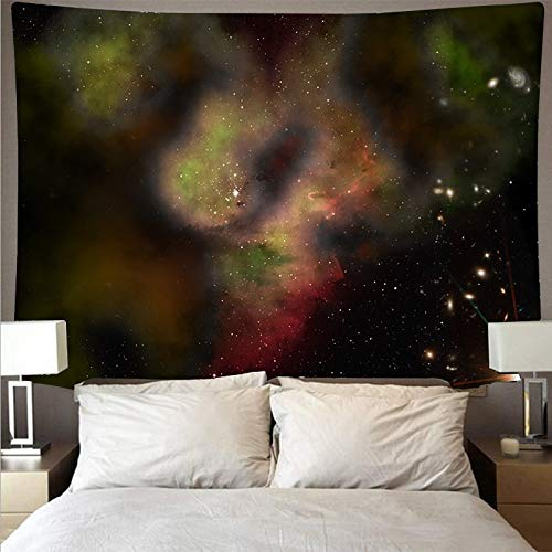 KHKJ Espectacular Espacio Galaxia Tela de Pared Gran Arte Tapiz psicodélico Colgante de Pared Toalla de Playa Manta Yoga A6 200x180cm