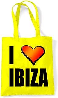 Women's I Love Ibiza Eco Friendly Tote Shoulder Bag