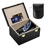 Kolaura Faraday Box for Car Keys Signal Blocker Shielding Box, Faraday Key Fob Protector Box, RFID Blocking Key Box for Phone, Cards with Car Security Key Pouch