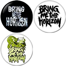 Bring Me The Horizon #1 Pinback Buttons Badges/Pin 1.25 Inch (32mm) Set of 3 New