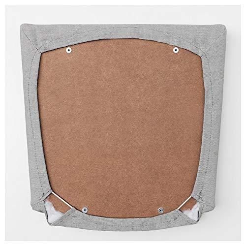 BestOnlineDeals01 EKEDALENSilla, blanco, Ramna gris claro, 43x51x95 cm duradera y fácil de cuidar. Sillas tapizadas. Sillas de comedor. Sillas. Muebles. Respetuoso con el medio ambiente.
