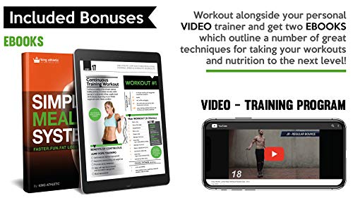 Jump Rope :: Leather Skipping Ropes for Workout and Speed Skip Training :: Because You Need the Best Jumping Rope for Cardio Fitness Exercise :: Your New Skip Rope Includes Workout Videos and eBook