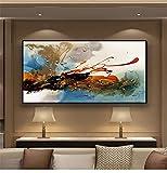 Cuadros de la pared de la pintura al óleo de la lona para la decoración del hogar de la sala de estar nubes abstractas arte de la lona colorida decoración del hogar 35x70 CM (sin marco)