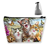 Animal Cat Cosmetic Bag for Women, Roomy Makeup Bags Travel Waterproof Toiletry Accessories Organizer Gifts