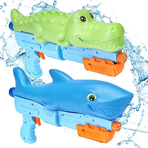 RACPNEL Water Guns for Kids, 2 Pack Squirt Guns, Long Range Kids Water Gun, Super Water Blasters Soaker for Boys & Girls, Pool Party Favor, Outdoor Water Fighting Toys, Summer Gift for Kids