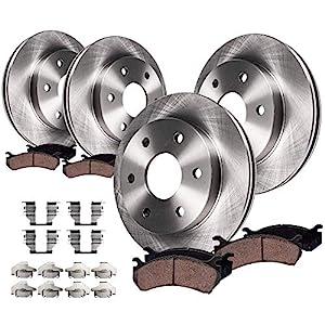 Detroit Axle - 305mm FRONT & 325mm REAR Brake Kit Rotors & Ceramic Brake Kit Pads w/Hardware fits Single Piston Rear Calipers
