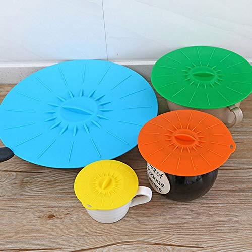 Omabeta 5 unids/Set Tapa de Cuenco Tapa de Cuenco Cubierta de Cuenco Calefactor Resistente al Calor Silicona para Suministros domésticos hogar para Cuenco de Horno