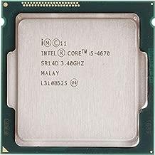 MAO YEYE Intel Core i5 4670 3.4GHz 6MB Socket LGA 1150 Quad-Core CPU Processor SR14D i5-4670