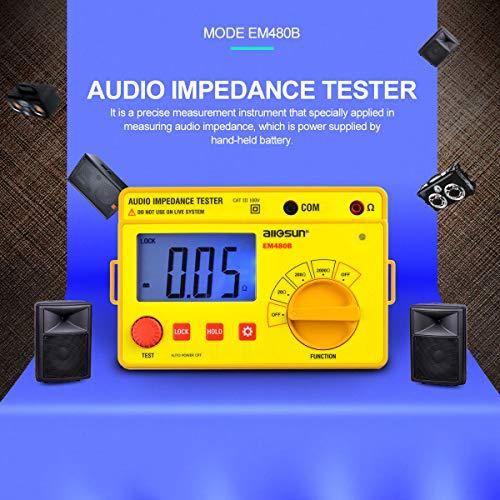 ALLOSUN - EM480B Audio Impedance Tester Digital LCD Insulation Resistance Megohmmeter Meter Tester with Bag