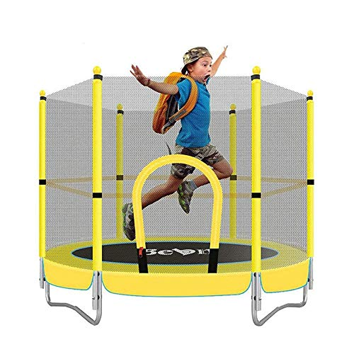 Mustbe Strong 5 FT Kids Trampoline, Mini Fitness Trampoline...