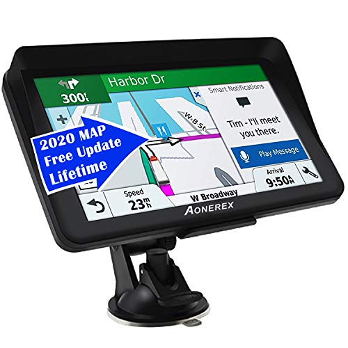 Fantastic Prices! Car GPS,(7Inch) with 2020 North America Edition+Free Lifetime Updates, GPS Navigat...