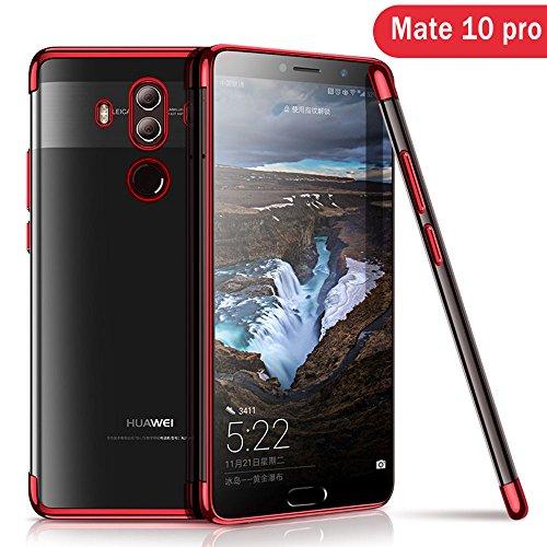 Huawei Mate 10 Pro Hülle, AOLANDER Huawei Mate 10 Pro Handyhülle TPU Case Cover, Leicht Flexible Rugged Armor Hybrid Defender Shockproof Schutzhülle für Huawei Mate 10 Pro (Rot)