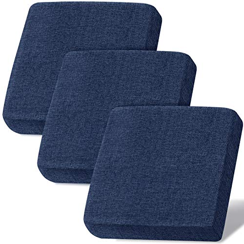 Linen Couch Cushion Covers, Sofa Cover Sofa Furniture Protector Slipcover with Bottom Velcro, Soft Non-Slip Non-Wrinkle Non-Sticky Suitable for Chair Bench Settee Seat Loveseat(Navy,3 Pieces)