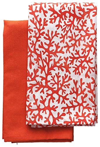Andrea Fontebasso Juego de 2 paños de cocina nido de abeja (rojo) 45 x 70 cm Textile Reef
