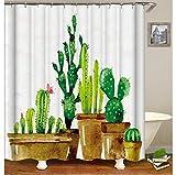 daimin Plant Tree 3D-Druck Duschvorhänge wasserdichte Blumenvorhänge für Bad Stoff Gardinen Bad Dekor 180x200cm mit Haken
