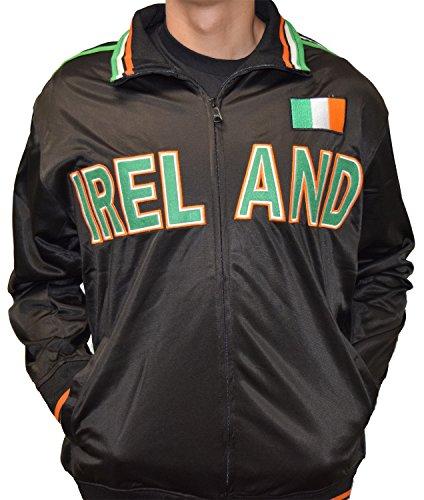 Amdesco Ireland Full Zip Sport Track Jacket, Black XS