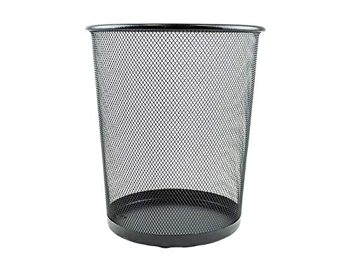 Guilty Gadgets Leichter Papierkorb aus Metallgeflecht für Büro, Schule, Zuhause, Schwarz